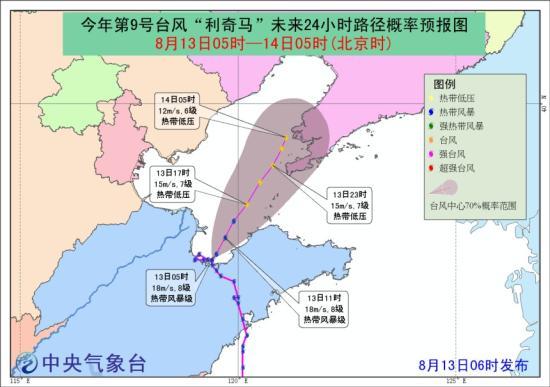 中央气象台发布了台风蓝色警告渤海当地阵风9-10